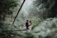 Amy & Blaine's Engagement shoot took place in the forest of Jubilee Creek in Rheendendal