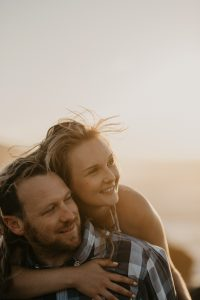 Claudia & Chris's sunrise engagement shoot on Robberg Nature Reserve, Plettenberg Bay.