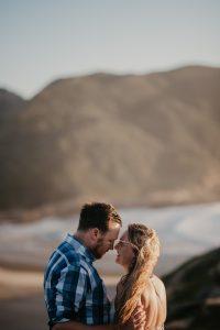Claudia & Chris's sunrise engagement shoot on Robberg Nature Reserve, Plettenberg Bay.