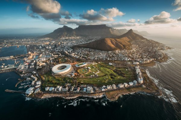 Cape Town Aerial by Sharyn Hodges.
