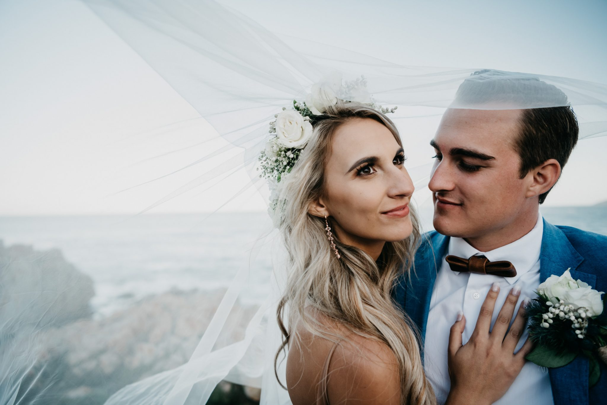 Melanie & Berno's beach wedding at Keurboomstrand, Plettenberg Bay.