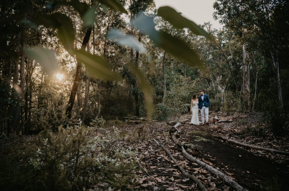 Nina & Anthony's Jewish and Greek infused beach wedding took place on Nature's valley amongst close friends and family.